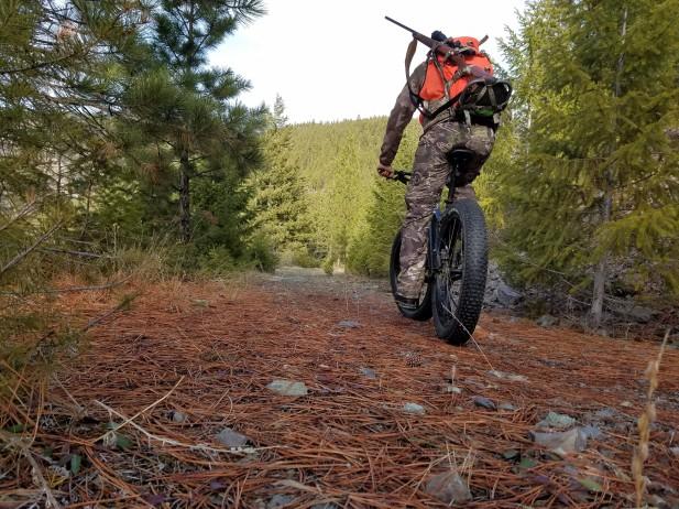Montana deer hunt from a bike